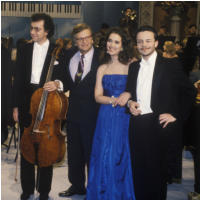with Boris Pergamenschikow, Justus Frantz, Juliane Banse (1992)