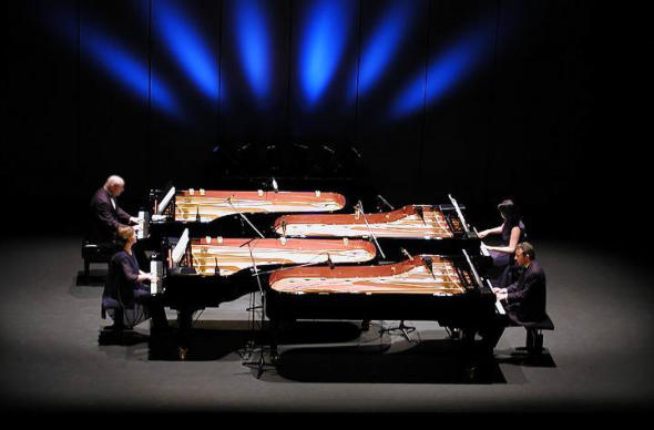 "Concert with the ensemble ""Piano4te"""